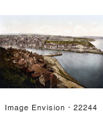 #22244 Historical Stock Photography Of A View From East Cliff On Whitby North Yorkshire England Uk