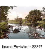 #22247 Historical Stock Photography Of The River Ribble Flowing Through Horton North Yorkshire England