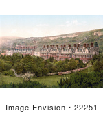 #22251 Historical Stock Photography of the Royal National Hospital, Now the Ventnor Botanic Garden, in Ventnor Isle of Wight England UK by JVPD