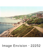 #22252 Historical Stock Photography Of The Seaside Village Of Ventnor Isle Of Wight England Uk