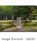 #22253 Historical Stock Photography Of The Rufus Stone That Markes The Place Of The Death Of William Rufus In New Forest Hampshire England Uk