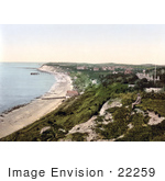 #22259 Historical Stock Photography Of Totland On The Colwell Bay Isle Of Wight England