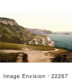 #22267 Historical Stock Photography Of A Path Along The Cliffs In Ventnor Isle Of Wight England Uk