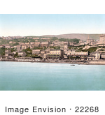 #22268 Historical Stock Photography Of The Waterfront Village Of Ventnor Isle Of Wight England Uk