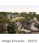 #22270 Historical Stock Photography Of The Skipton Castle In Craven Skipton North Yorkshire England Uk