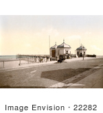#22282 Historical Stock Photography Of The Pier In Redcar North Yorkshire England Uk