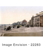 #22283 Historical Stock Photography Of The Esplanade By The Beach In Redcar North Yorkshire England Uk
