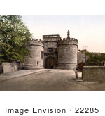 #22285 Historical Stock Photography Of The Gateway Of Skipton Castle In Craven Skipton North Yorkshire