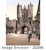 #22286 Historical Stock Photography Of The Punch Bowl Inn Near The Micklegate Bar In York North Yorkshire England