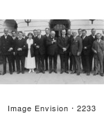 #2233 President And Mrs Coolidge With Association Of Advertising Men