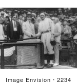 #2234 Calvin Coolidge Shaking Hands With Walter Johnson