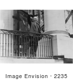 #2235 Calvin Coolidge Greeting From A Balcony