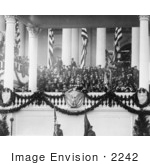 #2242 Calvin Coolidge Making Speech At His Inauguration