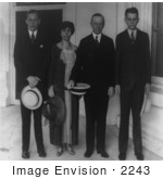 #2243 President And Mrs Coolidge With Sons