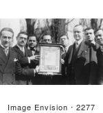 #2277 The Italian Republican League Giving Coolidge Lincoln