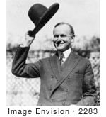 #2283 Calvin Coolidge Tipping His Hat