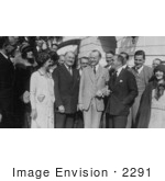 #2291 John Drew Al Jolson And Other Prominent Actors With President And Mrs Coolidge