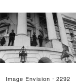 #2292 President And Mrs Coolidge On White House Balcony