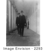 #2293 President Coolidge Returning To The Mansion From The Executive Office