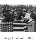 #2307 Manager Stanley Harris Presenting President Coolidge Opening Baseball