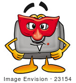#23154 Clip Art Graphic Of A Flash Camera Cartoon Character Wearing A Red Mask Over His Face