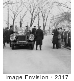 #2317 President Coolidge And Mr Hoover Leaving The White House