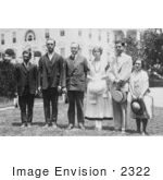 #2322 President Coolidge With Five Members Of The National Oratorical Contest