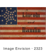 #2323 Lincoln And Hamlin Campaign Banner
