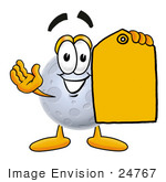 #24767 Clip Art Graphic Of A Full Moon Cartoon Character Holding A Yellow Sales Price Tag