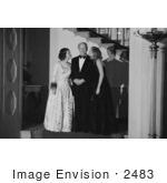 #2483 The Ford Family At A White House Chrismas Party 1975