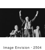 #2504 Gerald Ford Making A Victory Sign