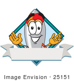 #25151 Clip Art Graphic Of A Space Rocket Cartoon Character Label