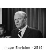 #2519 Gerald Ford Speaking Into Microphones