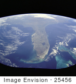 #25456 Stock Photography Of The State Of Florida As Seen From Space