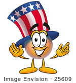 #25609 Clip Art Graphic Of A Patriotic Uncle Sam Character With Welcoming Open Arms