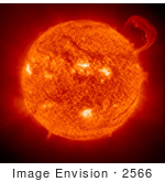 #2566 Handle Shaped Prominence On The Sun