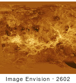 #2602 Simple Cylindrical Map Of Venus Surface