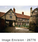 #26776 Stock Photo Of Abbot Reginald'S Gateway And The Old Vicarage In Evesham Worcestershire England Uk