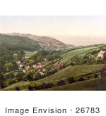 #26783 Stock Photography Of Hillside Homes In Lee Devon England