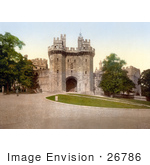 #26786 Stock Photography Of Lawns And The Gateway At Lancaster Castle In Lancaster Lancashire England Uk