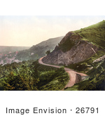 #26791 Stock Photography Of A Dirt Road Winding Around Ivy Scar Rock Quarry In The Village Of Malvern Worcestershire England Uk