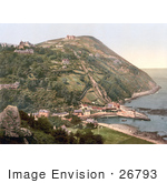 #26793 Stock Photography Of The Lynton And Lynmouth Cliff Railway Connecting The Village Of Lynton To The Lower Village Of Lynmouth On The Coast In Devon England Uk