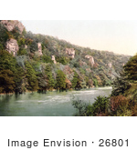 #26801 Stock Photography Of The Seven Sisters Rocks On The River Wye In Monmouth Wales Monmouthshire England Uk