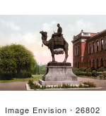 #26802 Stock Photography of the Gordon Memorial Statue at the Brompton Barracks Showing General Charles Gordon on a Camel in New Brompton Kent England UK by JVPD