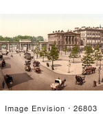 #26803 Stock Photography Of Double Decker Horse Drawn Carriages In Hyde Park Corner London England Uk