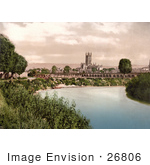 #26806 Stock Photography Of The River Severn Flowing Near The Gloucester Cathedral In Gloucester England United Kingdom