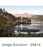 #26814 Stock Photography Of The Blea Tarn Lake With A View Of The Langdale Pikes Lake District Great Langdale Cumbria England Uk