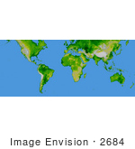 #2684 Picture Of Continents Of The Earth