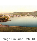 #26843 Stock Photography Of Port Erin With Waterfront Buildings And Sailboats Isle Of Man England