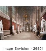 #26851 Stock Photography Of The Interior Of St Stephen'S Hall With Statues In The Houses Of Parliament London England Uk